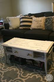 chalk paint coffee table makeover with happily ever after etc