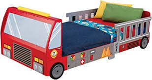 Amazon KidKraft Fire Truck Toddler Bed Toys & Games