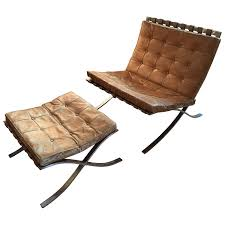 van der rohe furniture. early ludwig mies van der rohe barcelona chair with ottoman by knoll for sale at 1stdibs furniture