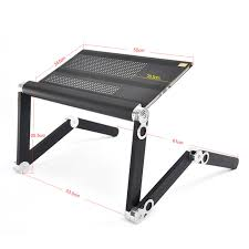 easy to adjust folding style portable aluminum laptop table large size black color and double mouse aliexpresscom buy foldable office table desk