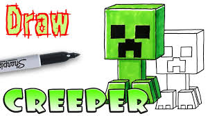 ont design ideas creeper coloring pages how to draw the minecraft you