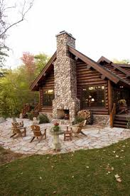 log cabin outdoor furniture patio. log cabin patio adirondack chairs outdoor fireplace room with a view onu2026 furniture