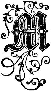 fancy letter m fancy letter m clipart 2072353