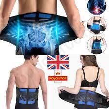 <b>Neoprene Double Pull</b> Lumbar Lower Back Support Belt Brace Pain ...