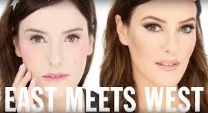 eastern asian vs western makeup look tutorial by lisa eldridge