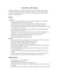 Medical Office Manager Job Description Recentresumes Com