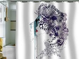 designer art shower curtains extra long