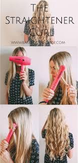 The Straightener Curl | Barefoot Blonde | Bloglovin'