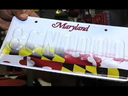 Proud Plate - License Youtube Maryland