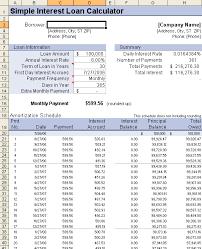 Loan Amortization Schedule Template Printable Schedule