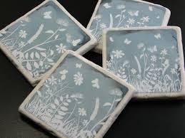 Decorative Tile Coasters Goose Ceramic Tile Coasters Canadian Geese Paperweights Orange 17