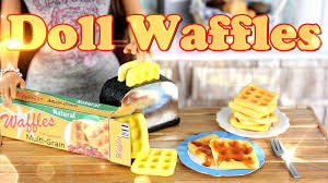 diy how to make doll food waffles handmade doll breakfast crafts you