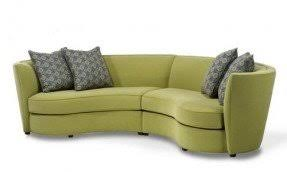 Small curved sectional sofa 1