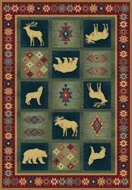 country style elk rug for your rustic cabin look area rugs