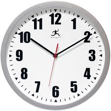 wall clocks for office. Silver Office Wall Clock By Infinity Instruments Silent Sweep Clocks For O