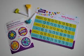 disney makes potty training magical mouse ears mom each of our guests received what i like to call a celebration package it included a potty progress chart big kid reward stickers and three party horns