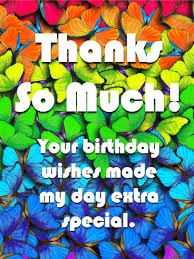 Free E Cards Thank You Thank You Cards For Birthday Wishes Birthday Greeting