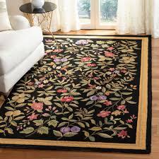 safavieh hand hooked garden fl black wool rug 5 3 x