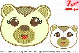 Animal Applique Designs Baby Bear Applique Designs For Embroidery Machine 14a By