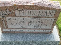 Mary Isabelle Miller Thideman (1906-1929) - Find A Grave Memorial