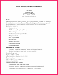 Receptionist Resume Sample Bio Letter Format