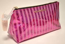 bag vs victoria s secret pink glitter make up makeup bag