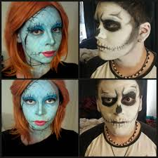 nightmare before jack and sally makeup for