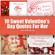 Valentine Love Quotes For Her Beauteous 48 Sweet Valentine's Day Quotes For Her