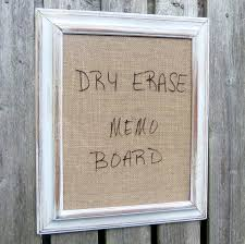 Framed Dry Erase Board Reserved Framed Dry Erase Board Message Burlap Distressed White