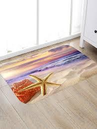 latest sunrise beach starfish print indoor outdoor area rug