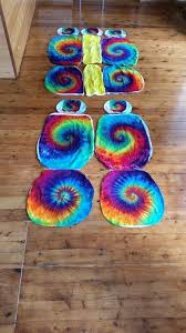 tie dye seat covers car rainbow