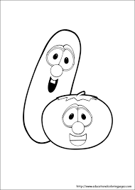 Small Picture Veggie Tales Coloring Pages free For Kids