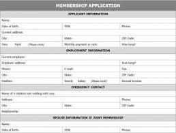 Excel Membership Template Membership Application Form Application For Membership Form