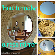 Diy Mirror Projects Pinterest Challenge D I Y Rope Mirror Finding Silver Linings