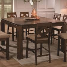 antoine square clipped corner leg pub table – home design and decor