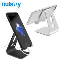 nulaxy universal mobile phone holder stand aluminium alloy desk holder for phone charging stand cradle mount
