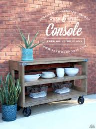 diy yard furniture. How To Build A DIY Restoration Hardware-inspired Wood And Steel Console Via Jen Woodhouse Diy Yard Furniture