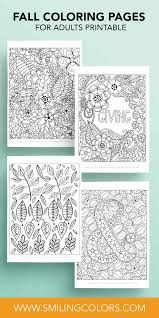 Coloring pages are learning activity for kids, this website have coloring pictures for print and color. Fall Coloring Pages For Adults Printable Smitha Katti