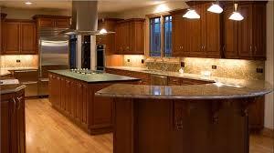 kitchen cherry wood cabinets