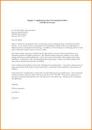 9 Teacher Application Letter Sample New Tech Timeline