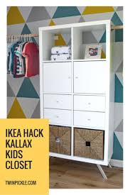 DIY Custom Closet IKEA Kallax Hack Closet ideas kids Diy closet