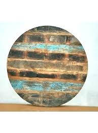 48 round wood table top clever round wood table top reclaimed rustic burn wood round table