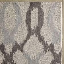 ikat links wool rug frost gray west elm