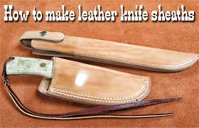 Knife Sheath Patterns Custom How To Make Leather Knife Sheaths