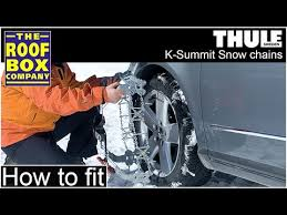 Thule Snow Chains Fit Chart Thule K Summit Snow Chains Ladder Track Snow Chain Fitting