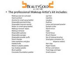 makeup artist checklist yahoo image search results