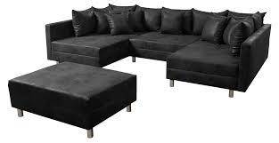 Wohnlandschaft Sofa Couch Ecksofa Eckcouch Mf Vintage Anthrazit Minsk Xxl