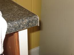 postform laminate countertop end caps will be larger than the countertop at first cap will be