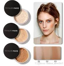 focallure brand dark skin makeup foundation powder waterproof face contour matte mineral loose powder palette luxury makeup best pact powder face
