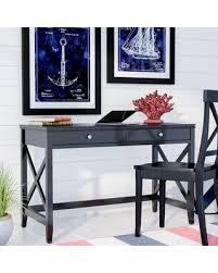 black writing desk. Thomaston Writing Desk Color: Black